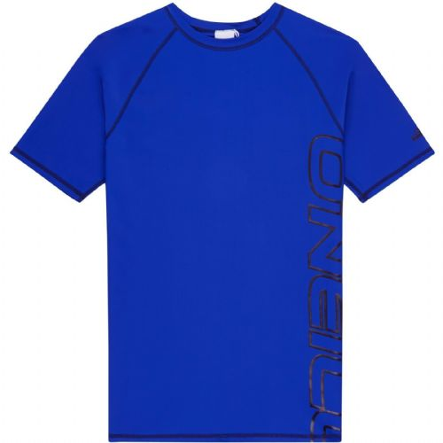 O'NEILL MENS SUN PROTECTION RASH T SHIRT.LOGO SKINS BLUE HYPERDRY GUARD TOP 9S 2